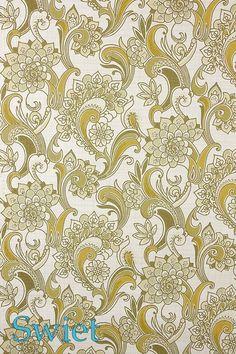 Origineel retro paisley behang | Swiet