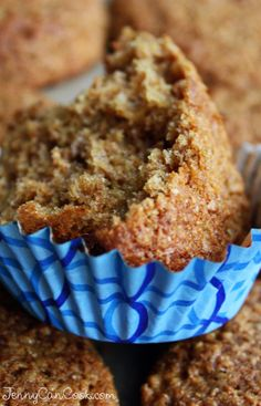 Bran Muffins recipe from Jenny Jones (JennyCanCook.com) - Easy recipe made with olive oil.