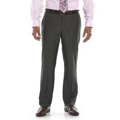 #28X32 #Apt #Black #FlatFront #Mens #Pants #Pindot Stylish Recliners, Kohls, Thighs, Slim, Zipper, Suit Pants, Fitness, Men, Black