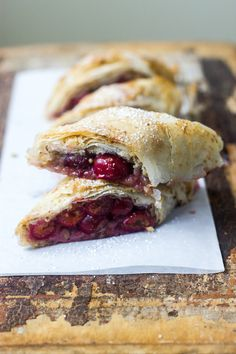 Hungarian sour cherry strudel (purchased phyllo dough makes this fast. You can use frozen cherries out of season.)
