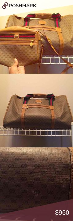 Vintage gucci purse and traveler Vintage Gucci purse and travel bundle! Gucci Bags Crossbody Bags