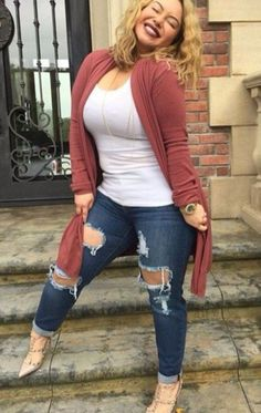 winter outfits plus size casual plus size fashion - winteroutfits Winter Outfits For Teen Girls, Plus Size Winter Outfits, Plus Size Fall Outfit, Plus Size Fall Fashion, Women's Plus Size Outfits, Plus Size Winter Clothes, Plus Size Fashions, Outfits For Women, Fall Clothes