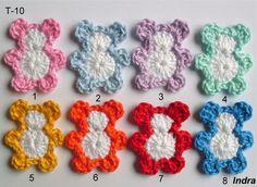 90 Besten Häkel Applikationen Bilder Auf Pinterest Häkelblumen