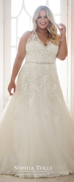 Plus Size Wedding Dress by Sophia Tolli #weddingdress