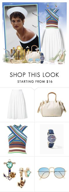 """""""She is Sea Worthy!"""" by krusie ❤ liked on Polyvore featuring Vince, Michael Kors, Charlotte Olympia, MSGM and Betsey Johnson"""