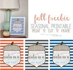 Fall Word Art Free Printable, Autumn Word Art Free Printable