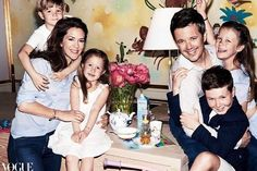 Crown Princess Mary, Crown Prince Frederik, Prince Christian, Princess Isabella, Prince Vincent, and Princess Josephine in Australia Vogue August 2016!