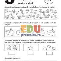 Fise de lucru cu cifre - Matematica-Logica   Eduprescolar.ro Thing 1, Bullet Journal, Calculus
