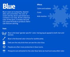 The Psychology of Blue! Even though that apostrophe doesn't belong in mosquitoes...