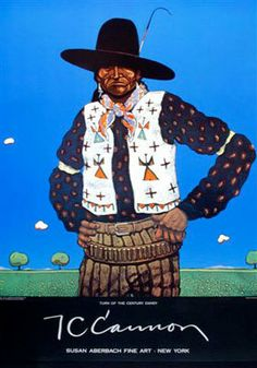 Turn of the Century Dandy by T. C. Cannon Contemporary Native American artist, big fan!