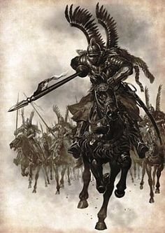 Polish King Jan III Sobieski and his Winged Hussars defeat Muslims (Ottoman…