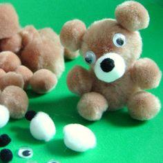 Rainbow Creations Make Your Own Pom pom Teddy Bear - Classpack