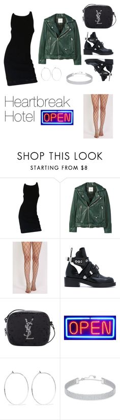 """Bad girl"" by ijwdmv ❤ liked on Polyvore featuring Chanel, MANGO, Pilot, Balenciaga, Yves Saint Laurent, Catbird and Swarovski"