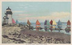 Rainbow Fleet Nantucket postcard Gardiner by NantucketCards, $16.00