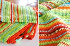 Crochet throw - lovely coloure