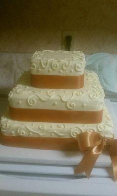 50th Anniversary Cake, Gold 50th Anniversary Decorations, 50th Wedding Anniversary Cakes, Golden Anniversary, Anniversary Ideas, Anniversary Parties, Wedding Cakes, Cupcake Cakes, Cupcakes, Square Cakes