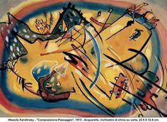 artwork: Wassily Kandinsky - 'Composizione-Paesaggio', 1915
