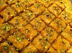 Baklava (Turkish Honey Nut Cakes_