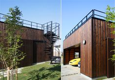 Rooftop Design, Garage Roof, Roof Deck, Toy Boxes, 21st Century, Habitats, Tiny House, Shed, Outdoor Decor