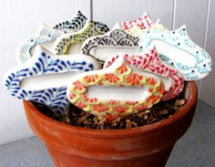 Artful + colorful garden markers.