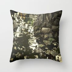 Our deepest reflections Throw Pillow by Fenia Stavra - $20.00