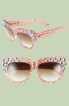 a-morir 'Mascis' 57mm Embellished Cat Eye Sunglasses available at #Nordstrom