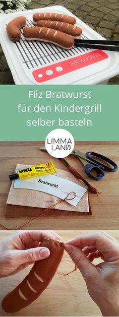 Bastel dir deine Filz Bratwurst für deinen IKEA Hack Matschküche einfach selbst. Wir zeigen dir eine genaue Bastelanleitung wie du Würstchen aus Filz selber machst. Zubehör für Kaufladen und Kinderküche: Hier geht es um die Wurst!!! www.limmaland.com