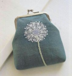 Wonderful Ribbon Embroidery Flowers by Hand Ideas. Enchanting Ribbon Embroidery Flowers by Hand Ideas. Crewel Embroidery, Embroidery Applique, Cross Stitch Embroidery, Embroidery Patterns, Flower Embroidery, Embroidery Thread, Frame Purse, Purses And Bags, Coin Purses
