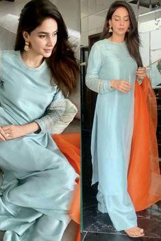 Dholki/ nikkah/ mayun outfit inspo for guests - Pakistani dresses Party Wear Indian Dresses, Pakistani Fashion Party Wear, Designer Party Wear Dresses, Indian Fashion Dresses, Kurti Designs Party Wear, Dress Indian Style, Pakistani Outfits, Pakistani Engagement Dresses, Wedding Dresses
