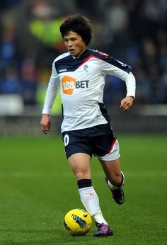 Ryo Miyaichi of Bolton Wanderers in action during the Barclays Premier League match between Bolton Wanderers and Wigan Athletic...