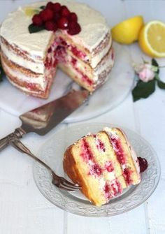 Layer cake citron & framboise