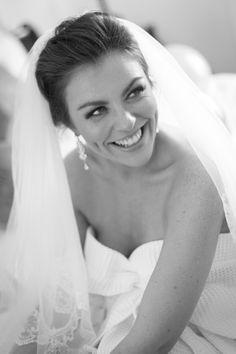 Black & White wedding photography, bridal portrait, bride getting ready on her wedding day.