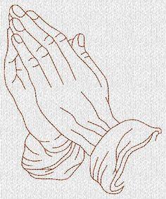 Praying Hands Redwork Machine Embroidery Designs. $5.00, via Etsy.