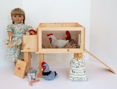 Hey, I found this really awesome Etsy listing at https://www.etsy.com/listing/253732600/doll-chicken-coop-hen-house-for-american