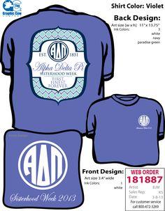 Alpha Delta Pi Virginia Tech Sisterhood Shirt