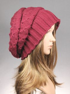 Slouch Hat Slouch Beanie Slouchy Hat knit slouch by GoKnitsDotCom