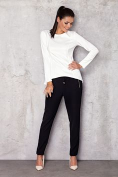 Blouse model 35686 Infinite You Blouse Models, Espadrilles, Capri Pants, Fancy, Chic, Infinite, Style, Fashion, Stuff Stuff
