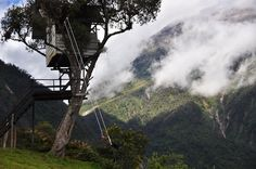 Swing at the End of the World; Baños de Agua Santa, Ecuador