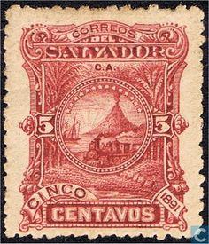 El Salvador - Locomotive for Volcano 1891