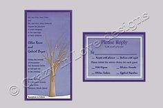 Tree with No Leaves, Snow, Winter Wedding Invitations Child Please, Winter Wedding Invitations, Save The Date Cards, Initials, Marriage, Leaves, Snow, Children, Valentines Day Weddings