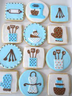 Kitchen Themed Sugar Cookies.