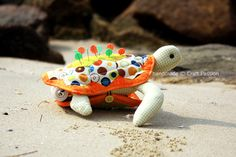 Any stitcher will love this Turtle Pincushion/Sewing Kit (from Craft Passion)