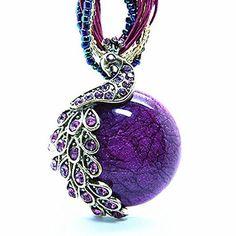 Amazing Peacock Animal Necklace Charm