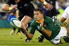 Joost playing the game he loves with a team that loved him. You're the best Joost! South Africa Rugby, Rugby Players, My Childhood Memories, That's Love, A Team, Van, Football, Sports, House