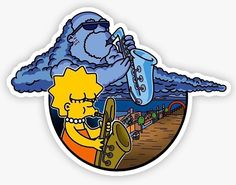 Tumblr Stickers, Anime Stickers, Diy Stickers, Printable Stickers, Laptop Stickers, Simpsons Tattoo, Simpsons Drawings, Simpsons Art, Simpson Wallpaper Iphone