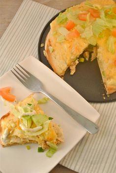 Wraptaart met kip, creme fraiche en bosui - Lekker en Simpel