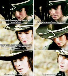 The second time in that episode where we all loved Carl a little bit more.