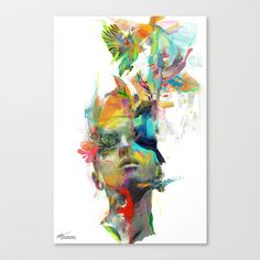 Dream Theory Stretched Canvas by Archan Nair - LOVE this!!! Inspiration!