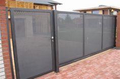 House Fence Design, House Main Gates Design, Front Gate Design, Door Design, Exterior Design, House Plans South Africa, Interior Design And Build, Entrance Lighting, Bali House