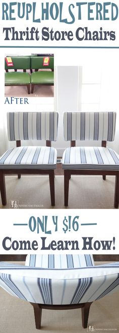 Step by Step guide to reupholstering a chair with photos.  Come check it out at Provident Home Design!